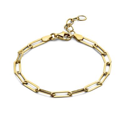 Selected Jewels Emma Jolie 925 Sterling Zilveren Goudkleurige Armband SJ320008 (Lengte: 16.00-19.00 cm)