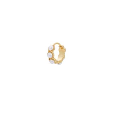ANNA + NINA 925 Sterling Zilveren Single La Perla Ring Oorbel 21-1M902003GP