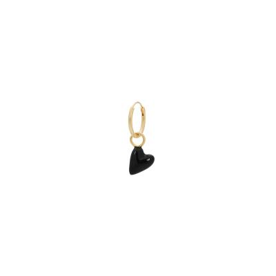 ANNA + NINA 925 Sterling Zilveren Single La Muerta Heart Ring Oorbel 21-1M902007GP