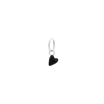 ANNA + NINA 925 Sterling Zilveren Single La Muerta Heart Ring Oorbel 21-1M902007S