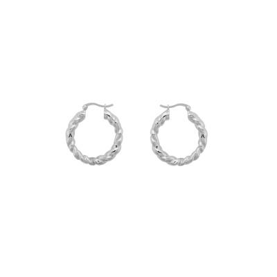ANNA + NINA 925 Sterling Zilveren Lasso Hoop Oorbellen 21-2M902018S