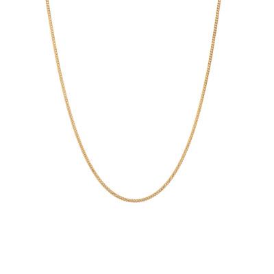 ANNA + NINA 925 Sterling Zilveren Goudkleurige Chunky Ketting 21-2M903007GP