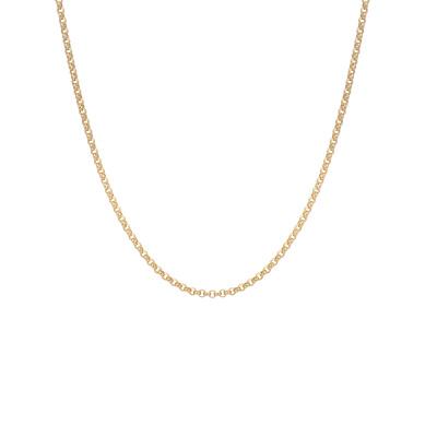 ANNA + NINA 925 Sterling Zilveren Goudkleurige Jasseron Ketting 21-2M903008GP