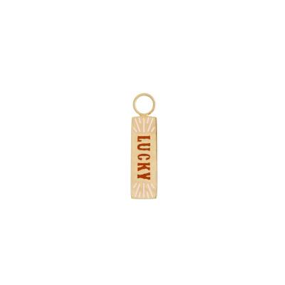 ANNA + NINA 925 Sterling Zilveren Goudkleurige Lucky Oorbedels 21-2M904003GP