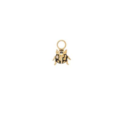 ANNA + NINA 925 Sterling Zilveren Goudkleurige Ladybird Oorbedels 21-2M904005GP