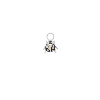 ANNA + NINA 925 Sterling Zilveren Ladybird Oorbedels 21-2M904005S