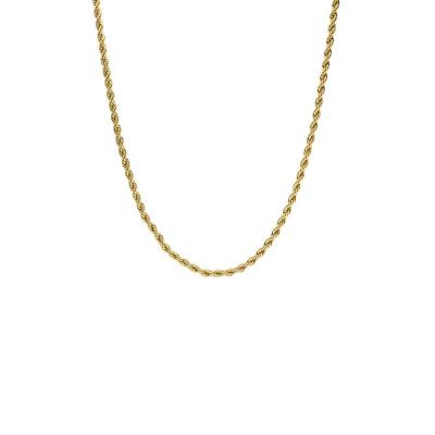 Paul Valentine Goudkleurige Vintage Classic Twisted Ketting PVW2010-S000035 (Lengte: 43.00 cm)