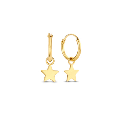 Isabel Bernard 14 Karaat Gouden Le Marais Anne-Blandine Oorbellen IB4-BFDG112