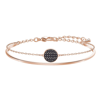 Swarovski Ginger Bangle Crystal Silver Night Armband 5389046 (Lengte: 18.50 cm)