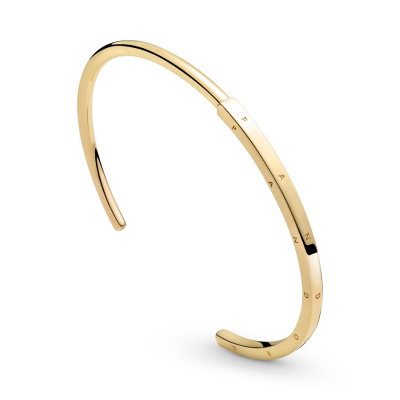 Pandora Signature Gouden Signature I-D Bangle 569493C00 (Lengte: 16.00 - 19.00 cm)