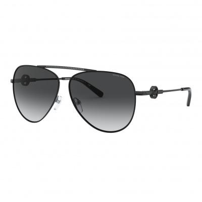 Michael Kors Shiny Black Zonnebril MK1066B10618G59