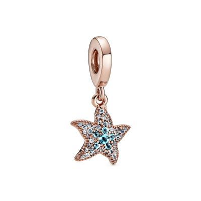 Pandora Moments 925 Sterling Zilveren Roségoudkleurige Starfish Bedel 788942C01