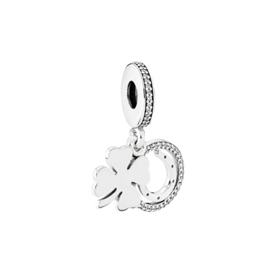Pandora Zilveren Clover Dangle Zirconia Bedel 792089CZ