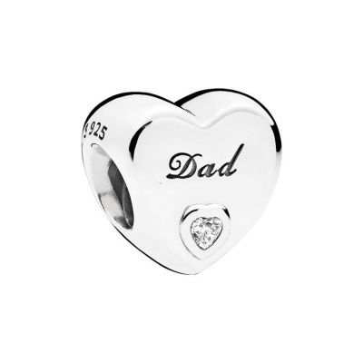 Pandora Moments Zilveren Dad's Love Bedel 796458CZ