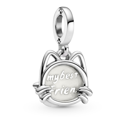 Pandora Passions 925 Sterling Zilveren Pet Cat Dangle Bedel 799329C01