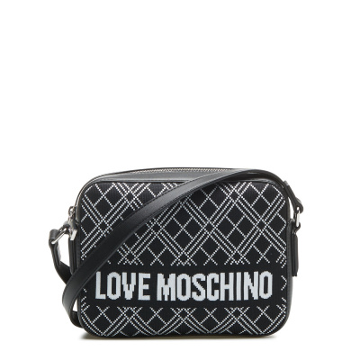 Love Moschino Borsa Fabric Grain Nero Crossbody JC4072PP1BLL100A
