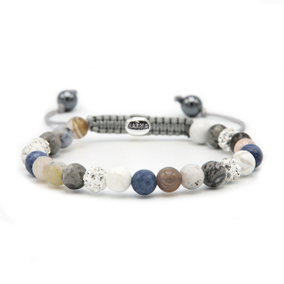 Karma Spiral Blueoon Armband 83626 (Lengte: 17.50-19.00 cm)cm