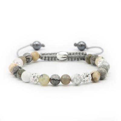 Karma Spiral Natural Grey Armband 83627 (Lengte: 17.50-19.00 cm)cm