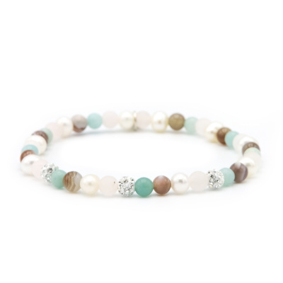 Karma Spiral Cotton Candy Armband 84439EL (Lengte: 18.00 cm)
