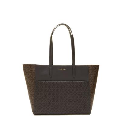 Calvin Klein Brown Mono Shopper K60K6084230HD001