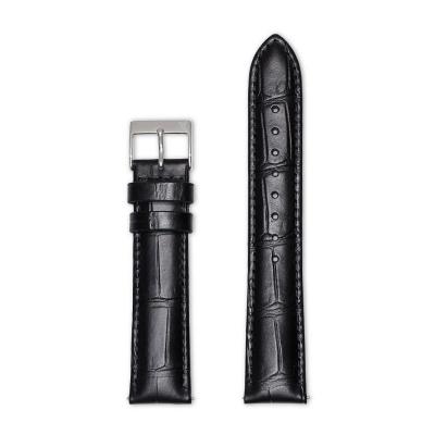 Renard Strap 20mm Croco Zwart R20S2CBL