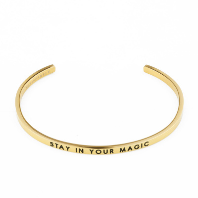 May Sparkle The Bangle Collection Magic Goudkleurige Armband MS10012