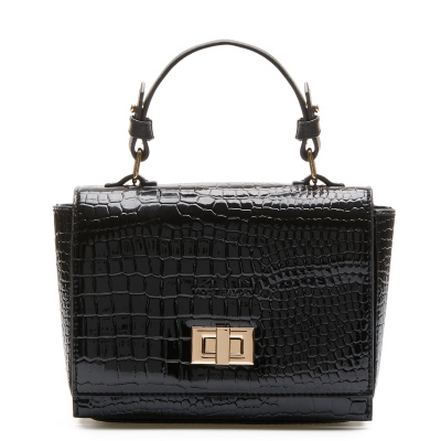 Violet Hamden Evening Star Croco Black Crossbody VH26006