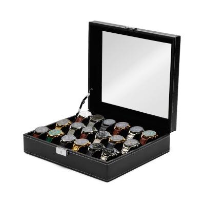 Mats Meier Mont Fort zwarte horlogebox voor 18 horloges