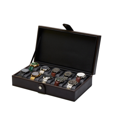 Mats Meier Mont Fort bruine horlogebox voor 10 horloges