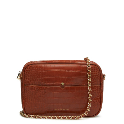 May Sparkle Festive Cognac Croco Crossbody MS22007