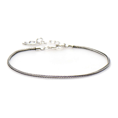 Karma Silver Bracelet Everlong Silver Armband 94004 (Lengte: 16.50-19.00 cm)