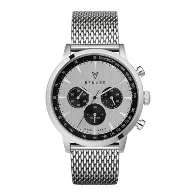 Renard Grande Silver/Black Milanes horloge RC402SS13MSS