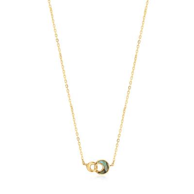 Ania Haie 925 Sterling Zilveren Goudkleurige Turning Tides Ketting AH-N027-03G (Lengte: 43 cm)