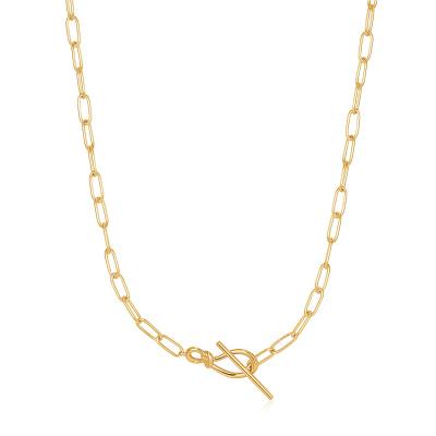 Ania Haie Forget me Knot 925 Sterling Zilver Goudkleurige Ketting AH-N029-01G (Lengte: 38.00 cm)