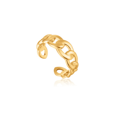 Ania Haie 925 Sterling Zilveren Goudkleurige Chain reaction Ring AH-R021-01G