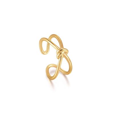 Ania Haie Forget me Knot 925 Sterling Zilver Goudkleurige Ring AH-R029-02G