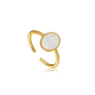 Ania Haie Wild Soul 925 Sterling Zilver Goudkleurige Evil Eye Ring AH-R030-02G