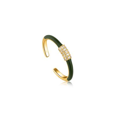 Ania Haie Bright Future 925 Sterling Zilver Goudkleurige Ring AH-R031-01G-G