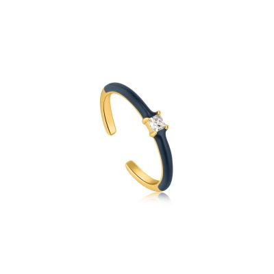 Ania Haie Bright Future 925 Sterling Zilver Goudkleurige Ring AH-R031-02G-B