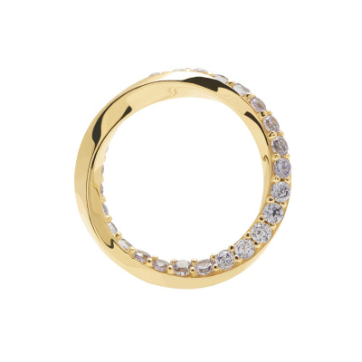 P D Paola 925 Sterling Zilveren Goudkleurige Cavalier Cavalier Ring AN01-197