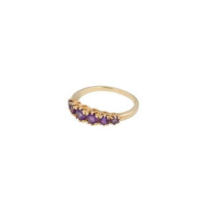 ANNA + NINA 14 Karaat Gouden Solid Anna Ring Amethyst 21-3M9080G