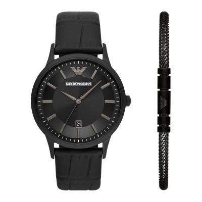 Emporio Armani Horloge en Armband Giftset AR80057