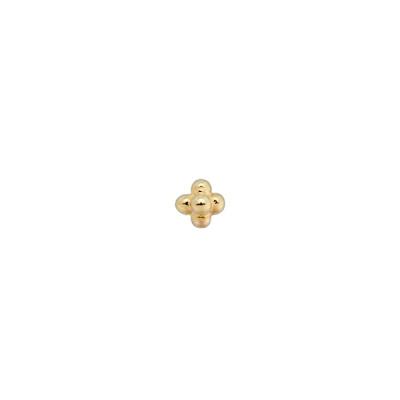 ANNA + NINA 925 Sterling Zilveren Disco Jungle Single Blossom Goudkleurige Oorsteker 20-2M901004GP