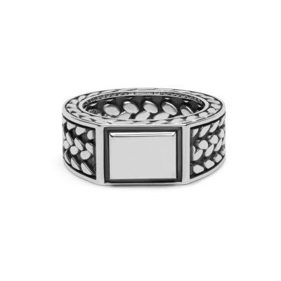 Buddha to Buddha 925 Sterling Zilveren Julius Signet Ring 194