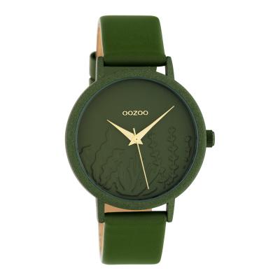 OOZOO Timepieces Olfijfgroen horloge C10608