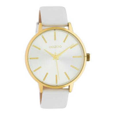 OOZOO Timepieces Wit/Zilverkleurig horloge C10611