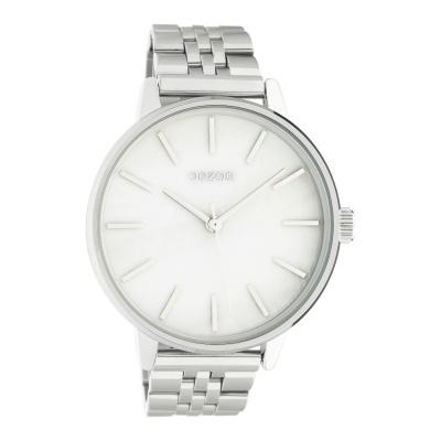 OOZOO Timepieces Zilverkleurig/Parelmoer horloge C10620