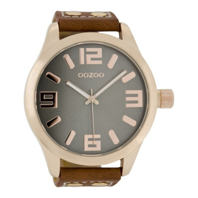 OOZOO Timepieces Cognac/Grijs C1106 (51MM)