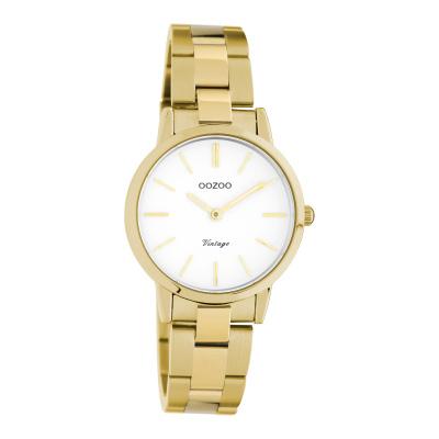 OOZOO Vintage Goudkleurig/Wit horloge C20113