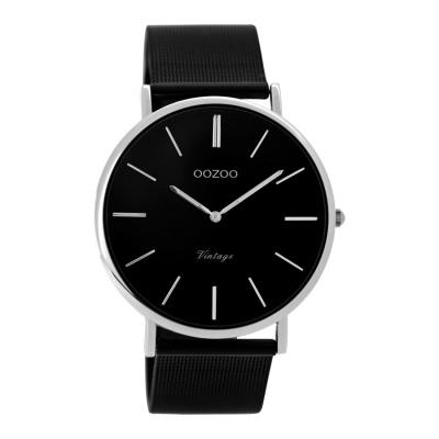 OOZOO Vintage Zwart horloge C8865 (40 mm)